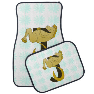 Monogram J Flexible Horse Personalised Floor Mat