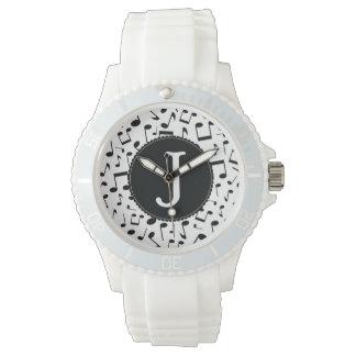 Monogram J Music Notes Wrist Watch