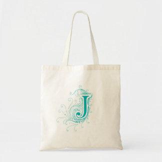 """Monogram """"J"""" Tote Bag"""
