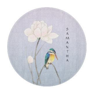 Monogram Japanese Vintage Kingfisher Cutting Board