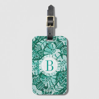 Monogram JUNGLE IKAT Hawaiian Green Tropical Luggage Tag