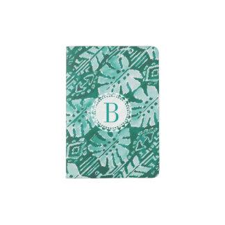 Monogram JUNGLE IKAT Hawaiian Green Tropical Passport Holder