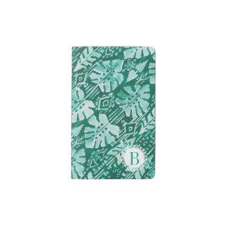 Monogram JUNGLE IKAT Hawaiian Green Tropical Pocket Moleskine Notebook