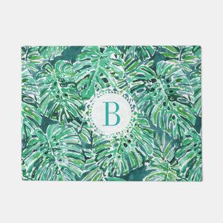Monogram JUNGLE VIBES Green Tropical Monstera Doormat