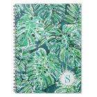 Monogram JUNGLE VIBES Green Tropical Monstera Notebook