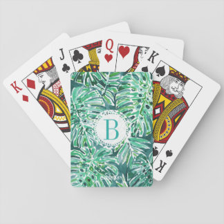 Monogram JUNGLE VIBES Green Tropical Monstera Playing Cards