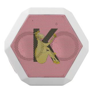 Monogram K Cartoon Pony Personalised White Boombot Rex Bluetooth Speaker