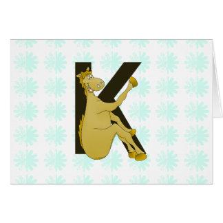 Monogram K Flexible Horse Personalised Cards