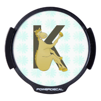 Monogram K Flexible Horse Personalised LED Window Decal