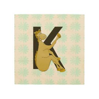 Monogram K Flexible Horse Personalised Wood Canvases