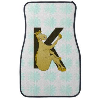 Monogram K Flexible Horse Personalised Floor Mat