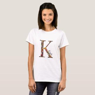 Monogram K, Floral letter K, T shirt