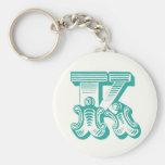 """Monogram """"K"""" Keyring Keychain"""