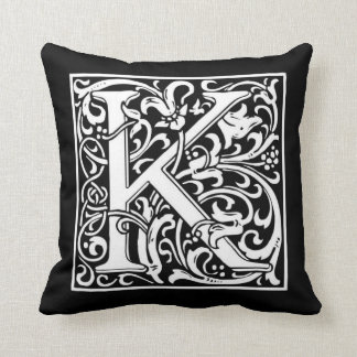Monogram K Pillow