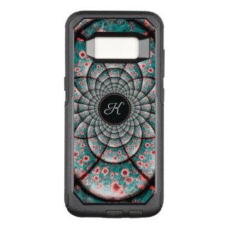 Monogram Kaleidoscope Textured Pink Sunflower OtterBox Commuter Samsung Galaxy S8 Case