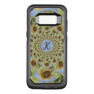 Monogram Kaleidoscope Textured Yellow Sunflower OtterBox Commuter Samsung Galaxy S8 Case