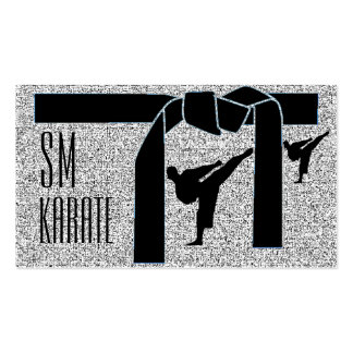 Monogram Karate Pack Of Standard Business Cards