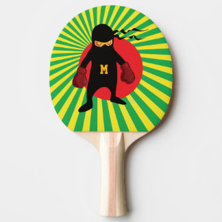 Monogram. Kawaii Cute Ninja for Nerd Geek. Ping Pong Paddle