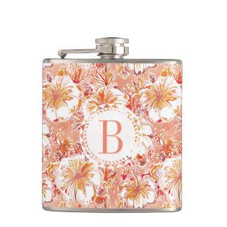 Monogram KOMBUCHA-CHA Peach Tropical Hibiscus Hip Flask