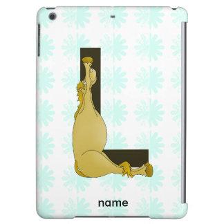 Monogram L Cartoon Pony Personalised Case For iPad Air