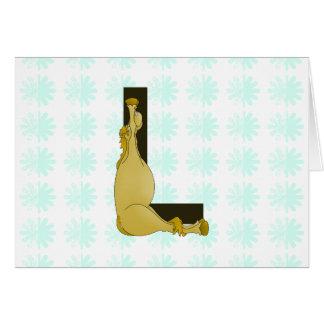 Monogram L Flexible Horse Personalised Card