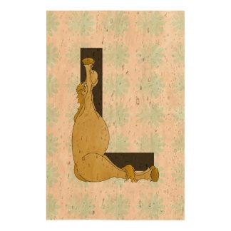 Monogram L Flexible Horse Personalised Cork Paper Print