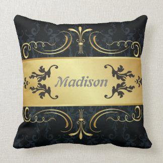 Monogram Ladies Name Throw Pillow
