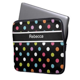 Monogram Laptop Case Polka Dots Laptop Sleeve