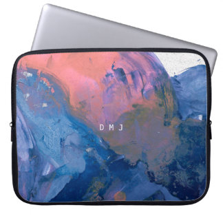 Monogram Laptop Sleeve - Modern Abstract Art Case