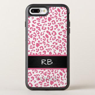 Monogram Leopard Animal Pattern OtterBox Symmetry iPhone 8 Plus/7 Plus Case