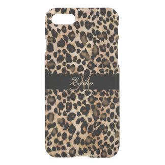 Monogram Leopard Animal Print iPhone 7 Case