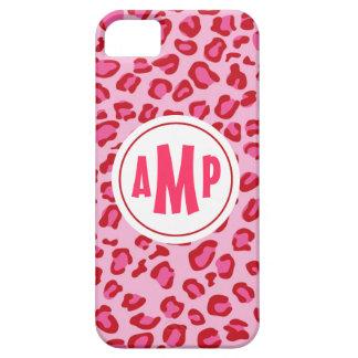 Monogram Leopard iPhone Case Pink & Red