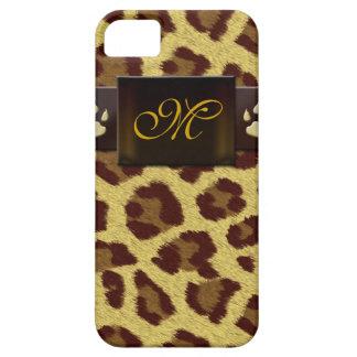 Monogram Leopard Pattern iPhone 5 Cases