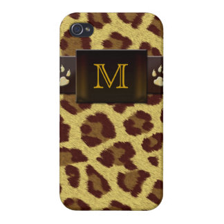 Monogram Leopard Pattern iPhone 4/4S Covers