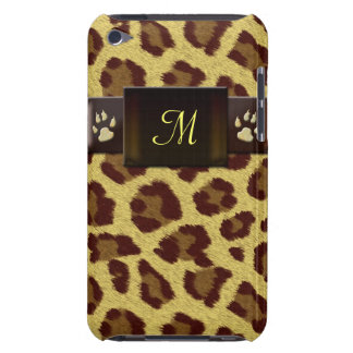 Monogram Leopard Pattern iPod Case-Mate Case
