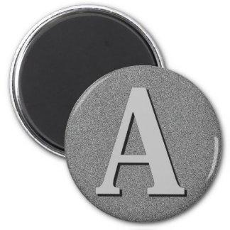 Monogram Letter A 6 Cm Round Magnet