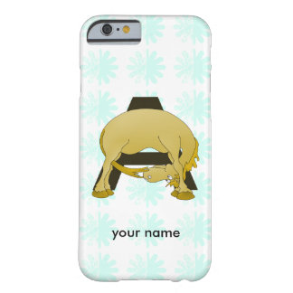Monogram  Letter A Pony Barely There iPhone 6 Case