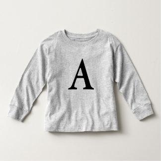 monogram Letter A toddler shirt