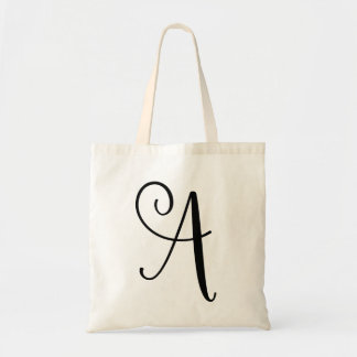 Monogram Letter A Tote Budget Canvas Tote Bag