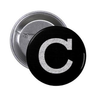 Monogram Letter C 6 Cm Round Badge