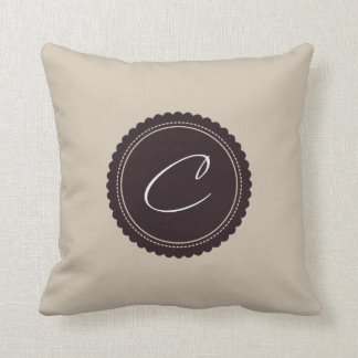 Monogram Letter C Cushion