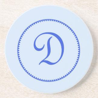 Monogram letter D coaster / drinks mat