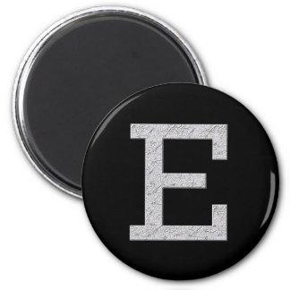 Monogram Letter E 6 Cm Round Magnet