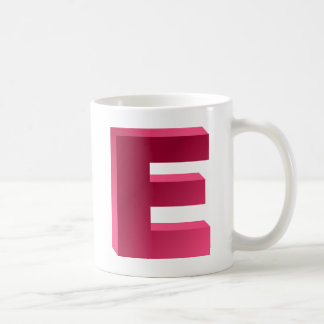 Monogram Letter E Coffee Mug