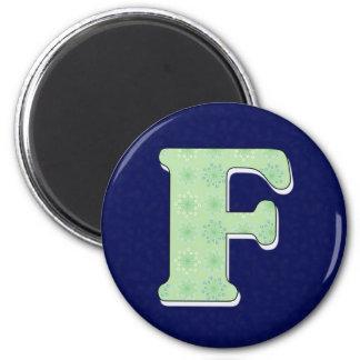 Monogram Letter F Refrigerator Magnet