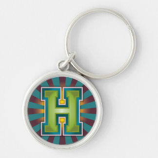 Monogram Letter 'H' Key Ring