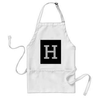 Monogram Letter H Standard Apron