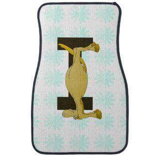 Monogram Letter I Pony Personalised Floor Mat