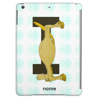 Monogram Letter I Pony Personalised Cover For iPad Air
