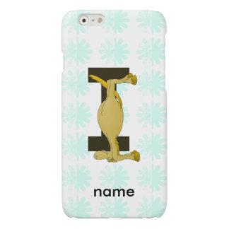 Monogram Letter I Pony Personalised Glossy iPhone 6 Case